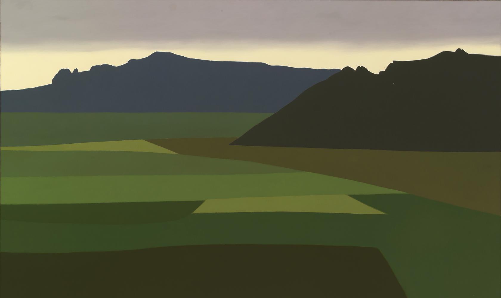 Desde Yerri, 60 x 100 cm, óleo lienzo, 2007.