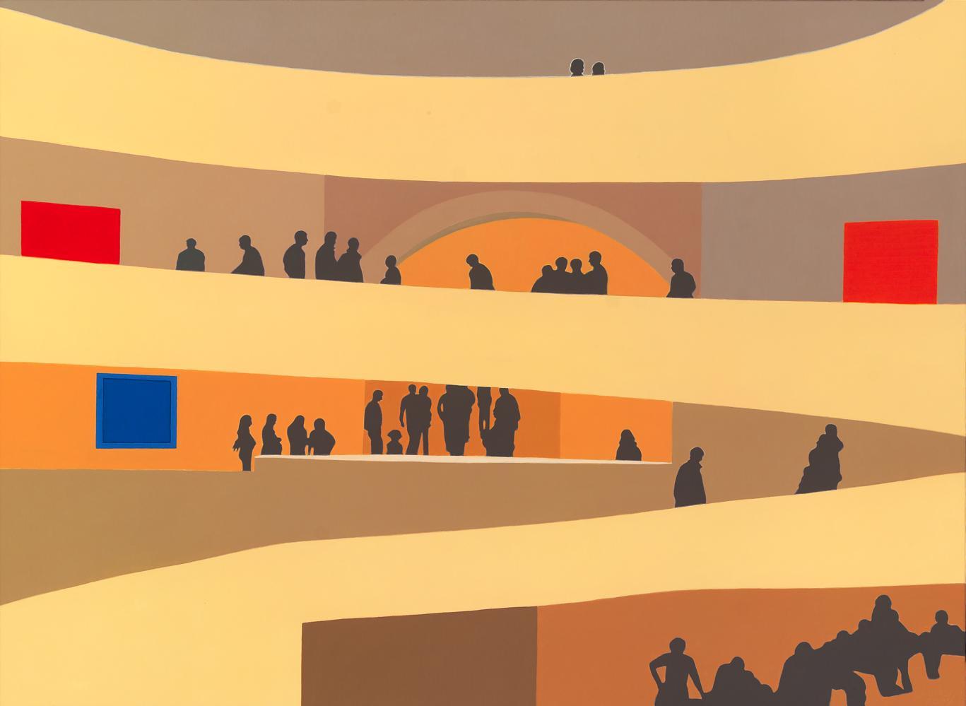 Guggenheim NY, 73 x 100 cm, óleo lienzo, 2007.