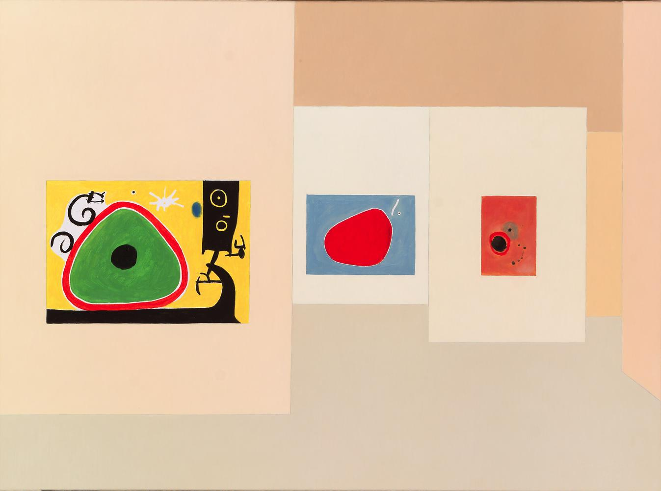 Fundación Miró, 54 x 73 cm, óleo lienzo, 2007.