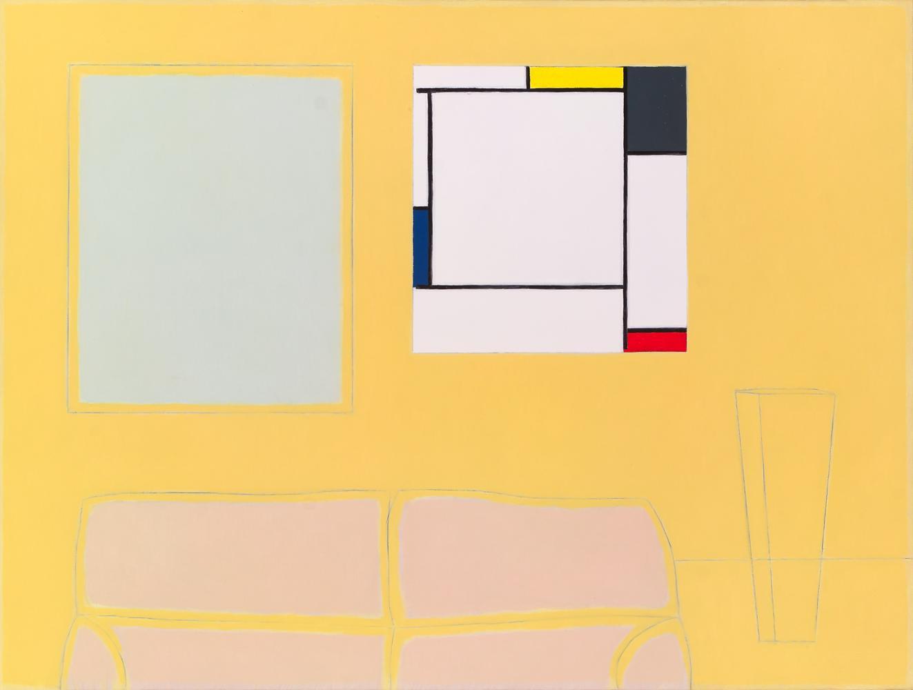 He comprado un Mondrian para mi cuarto de estar, 46 x 61 cm, óleo lienzo, 2007.