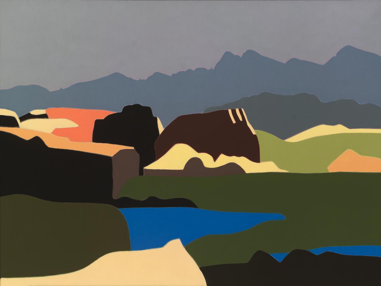 Pirineo de Andorra, 46 x 61 cm, óleo lienzo, 2007.
