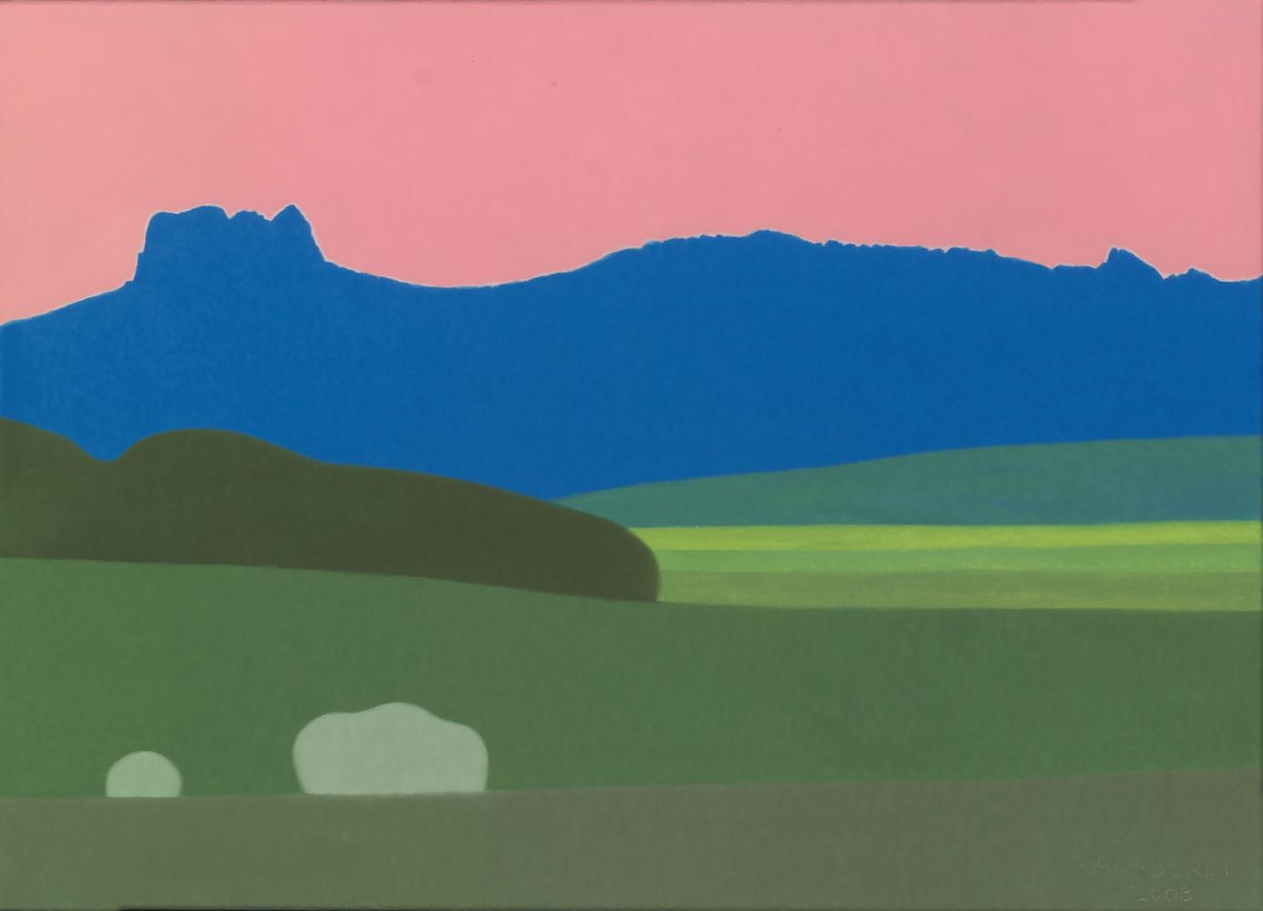 Lapoblación, 33 x 46 cm, óleo lienzo, 2008.