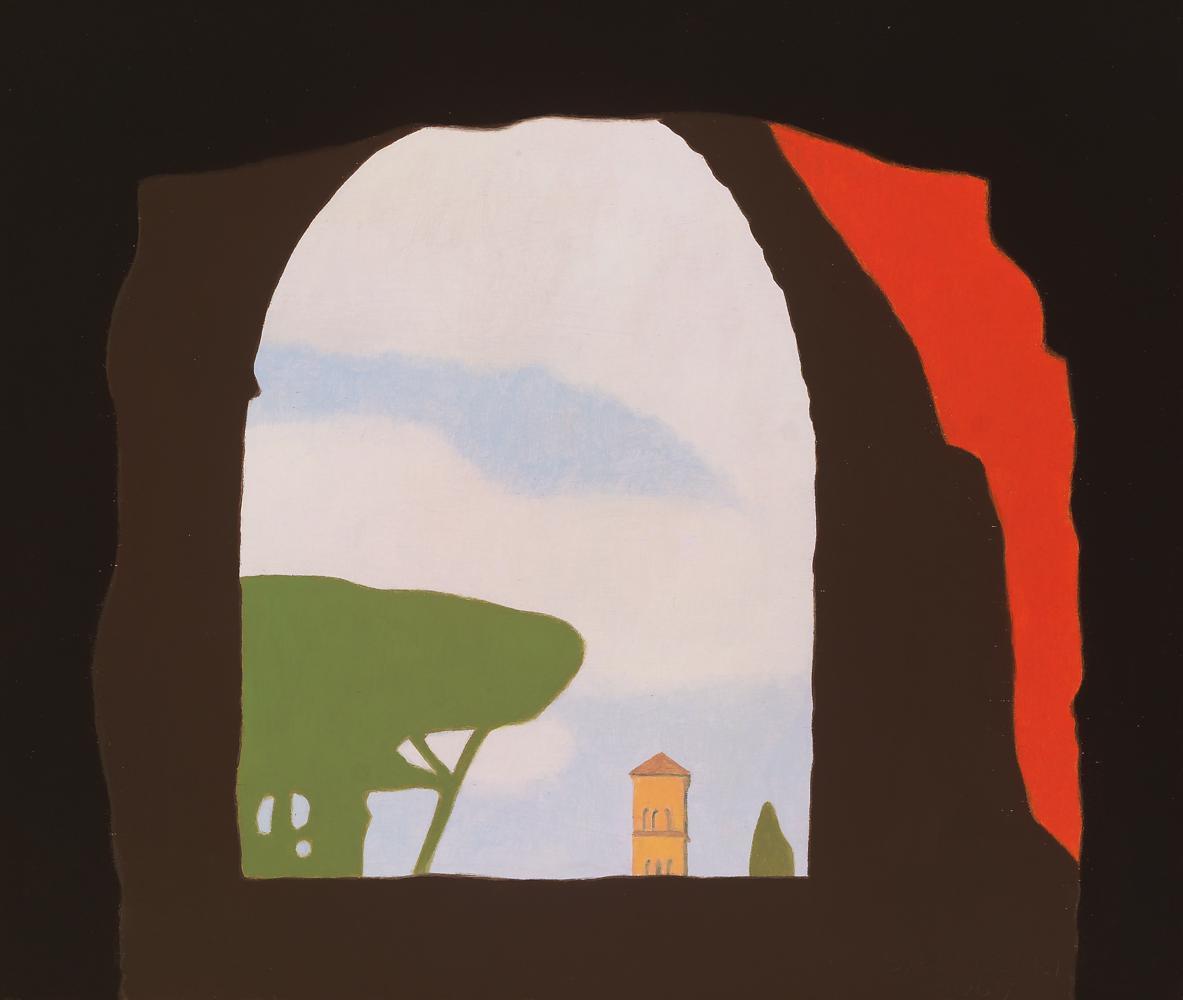 En el Coliseo, 30 x 35 cm, óleo sobre madera, 2007.