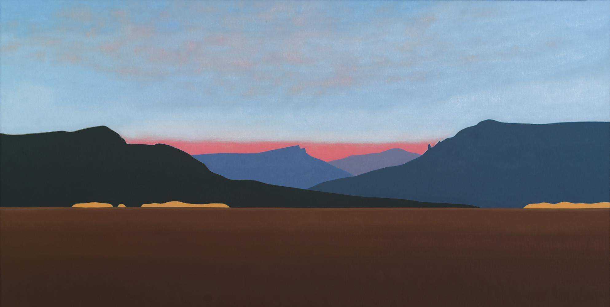 Desde Urbasa, 60 x 120 cm, óleo lienzo, 2007.