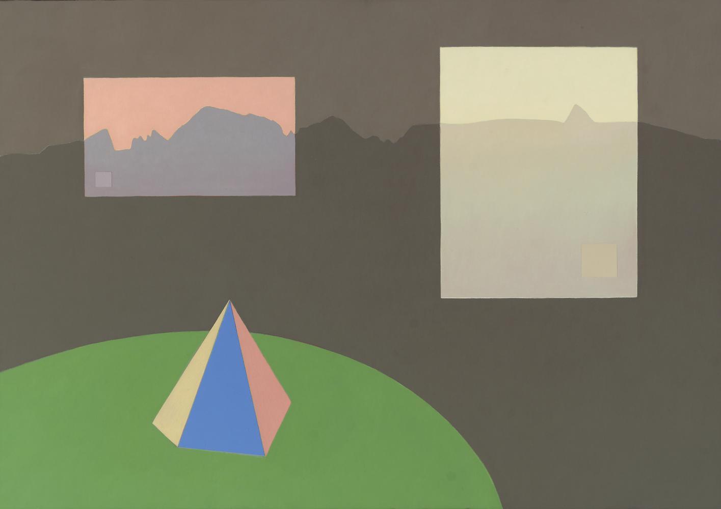 Pirineos (1 cuadro, 3 cuadros), 65 x 92 cm, óleo lienzo, 2003.