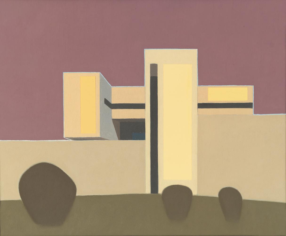 Arquitectura blanca, 38 x 46 cm, óleo lienzo, 2001-3.