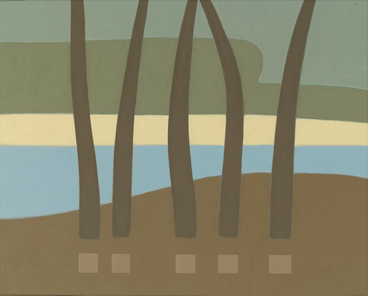 Landas, 38 x 46 cm, óleo lienzo, 2003.