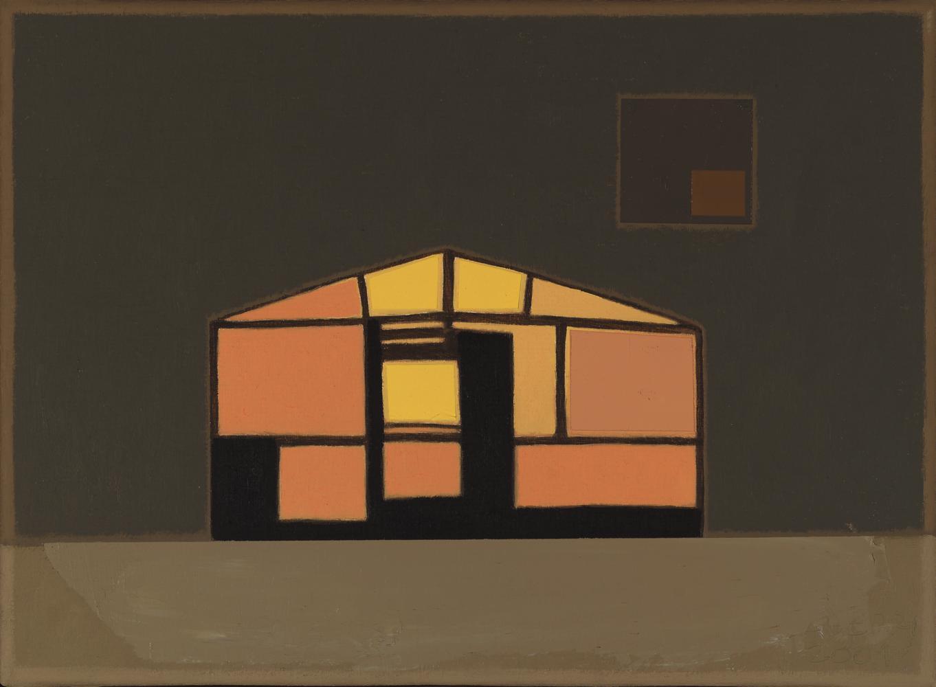 Caseta con luz, 24 x 33 cm, óleo lienzo, 2003.