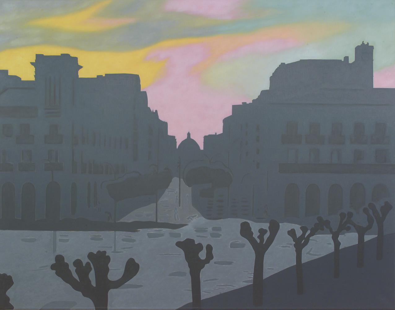 Desde mi estudio, 114 x 146 cm, óleo lienzo, 2004.