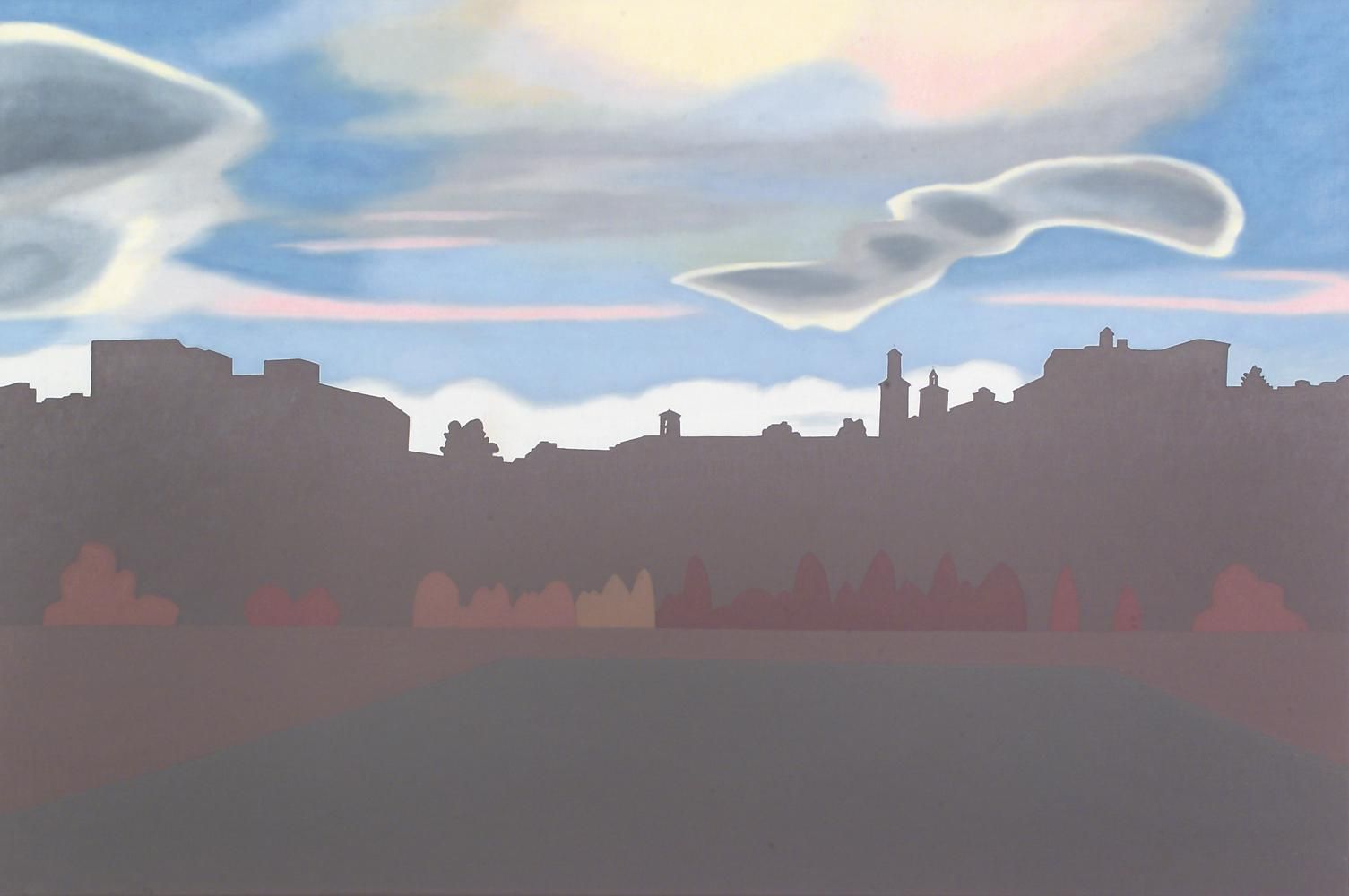 Desde la Rochapea, 97 x 146 cm, óleo lienzo, 2004.
