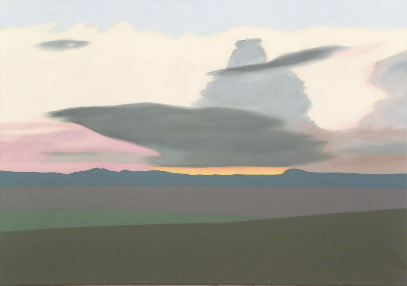 Nubes, 65 x 92 cm, óleo lienzo, 2004.