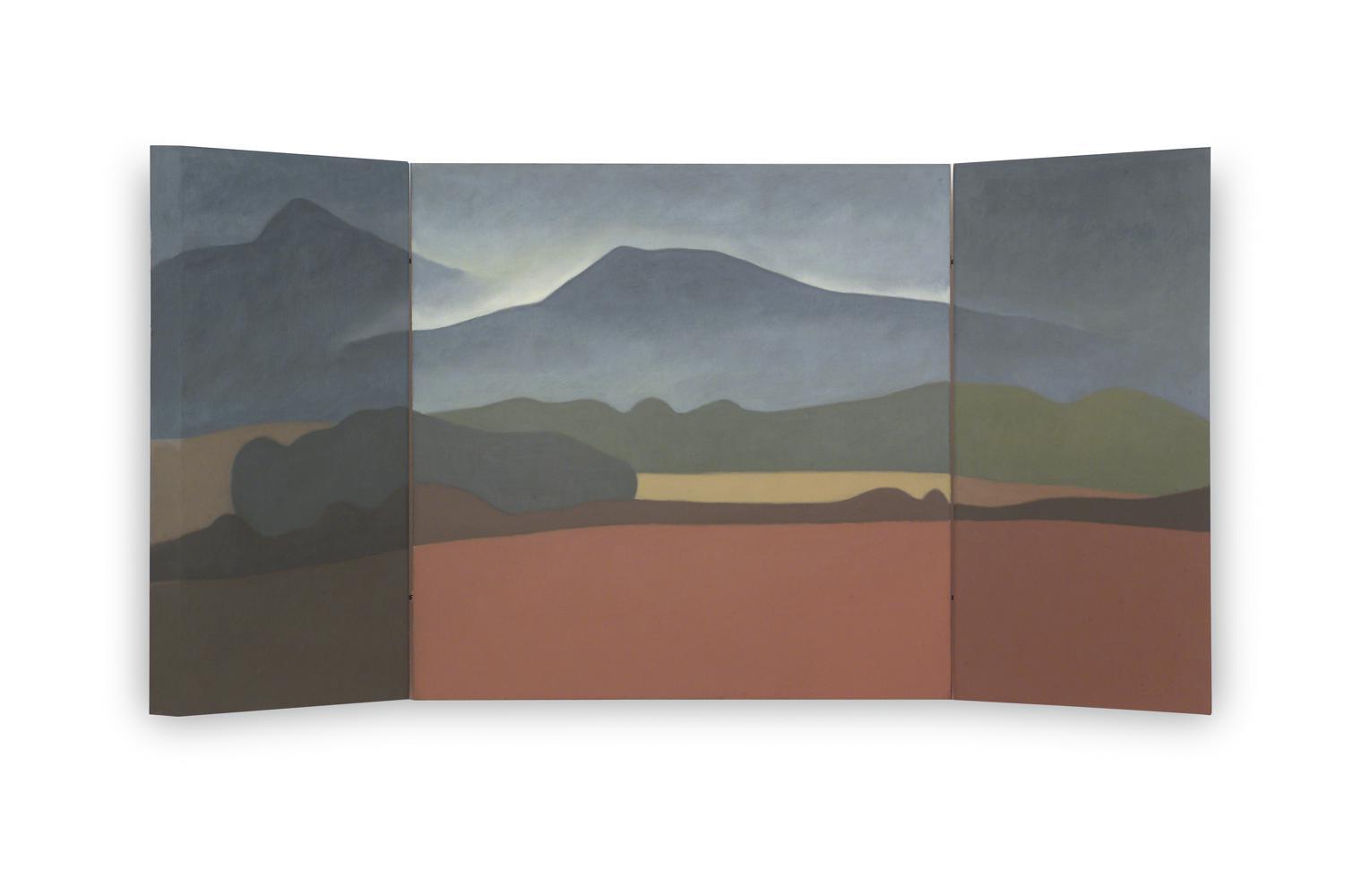 Tierra Estella (Tríptico), 40 x 80 cm, óleo sobre madera, 2003.