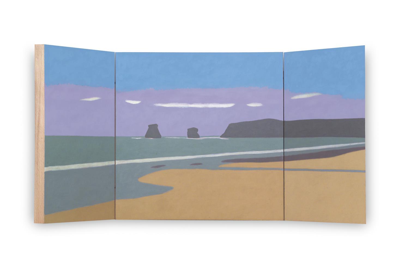 Hendaya (Tríptico), 40 x 80 cm, óleo sobre madera, 2004.