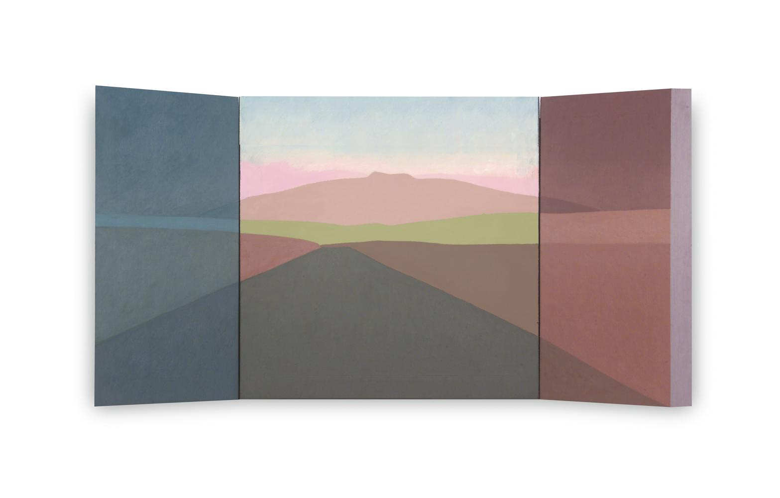 Moncayo (Tríptico), 40 x 80 cm, óleo sobre madera, 2004.