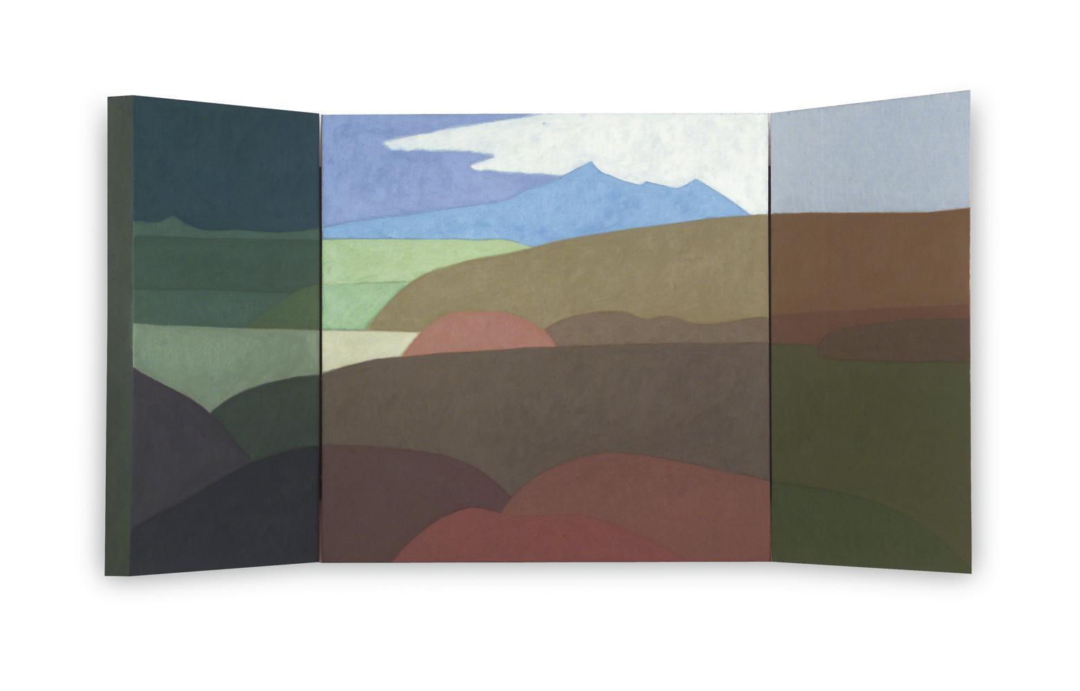 Larún (Tríptico), 40 x 80 cm, óleo sobre madera, 2004.