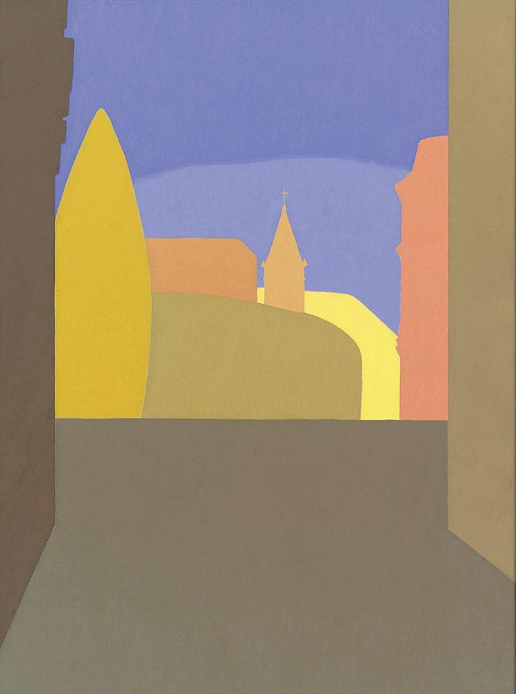 Calle Comedias, 73 x 54 cm, óleo lienzo, 2003.