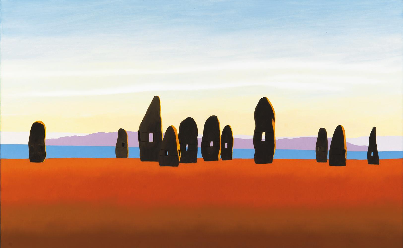 Lo que fuimos, lo que somos, 81 x 130 cm, óleo lienzo, 2003.