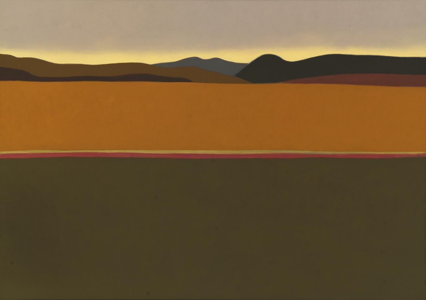 Montes de Zizur, 46 x 65 cm, óleo lienzo, 2003.