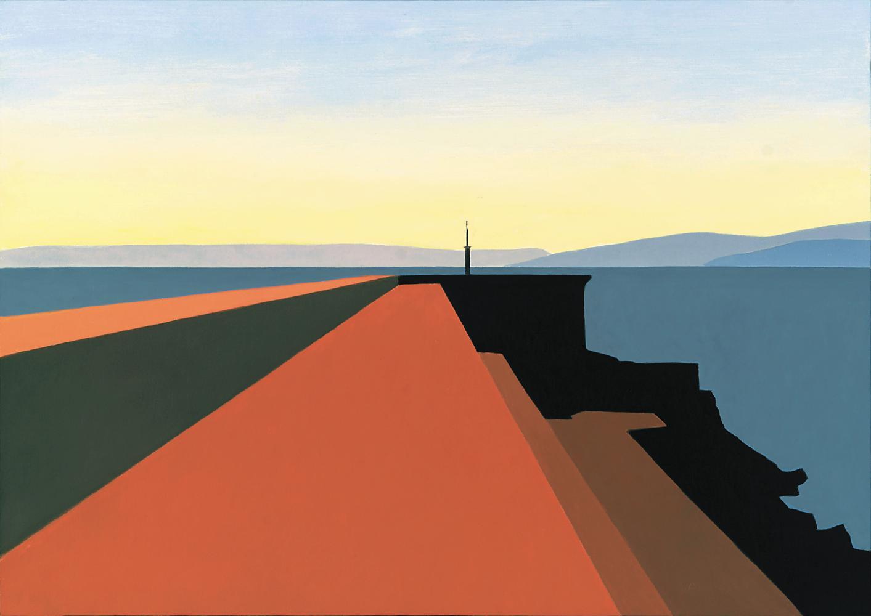 Muelle de Malpica, 46 x 65 cm, óleo lienzo, 2003.