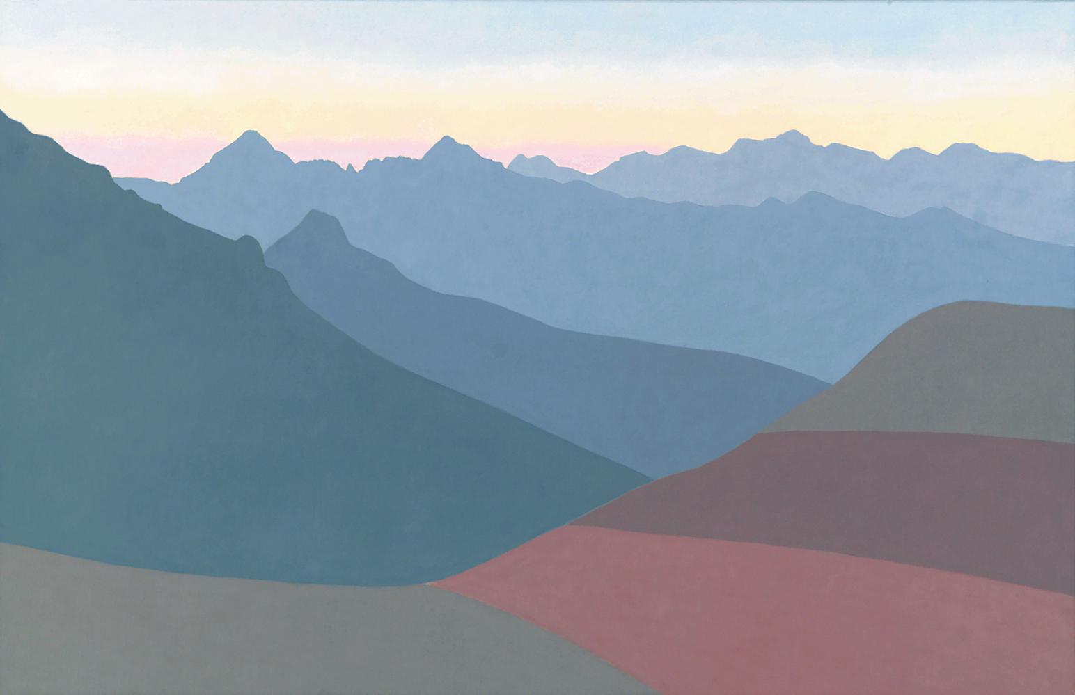 Pirineos, 81 x 130 cm, óleo lienzo, 2003.