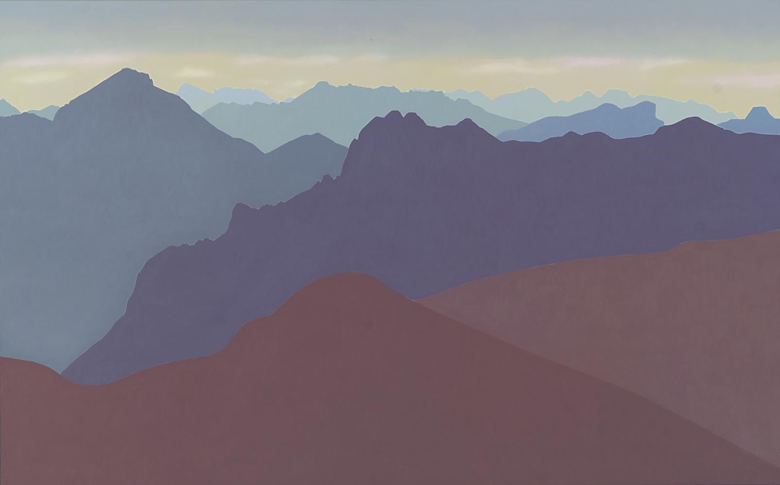 Pirineos, 60 x 92 cm, óleo lienzo, 2003.