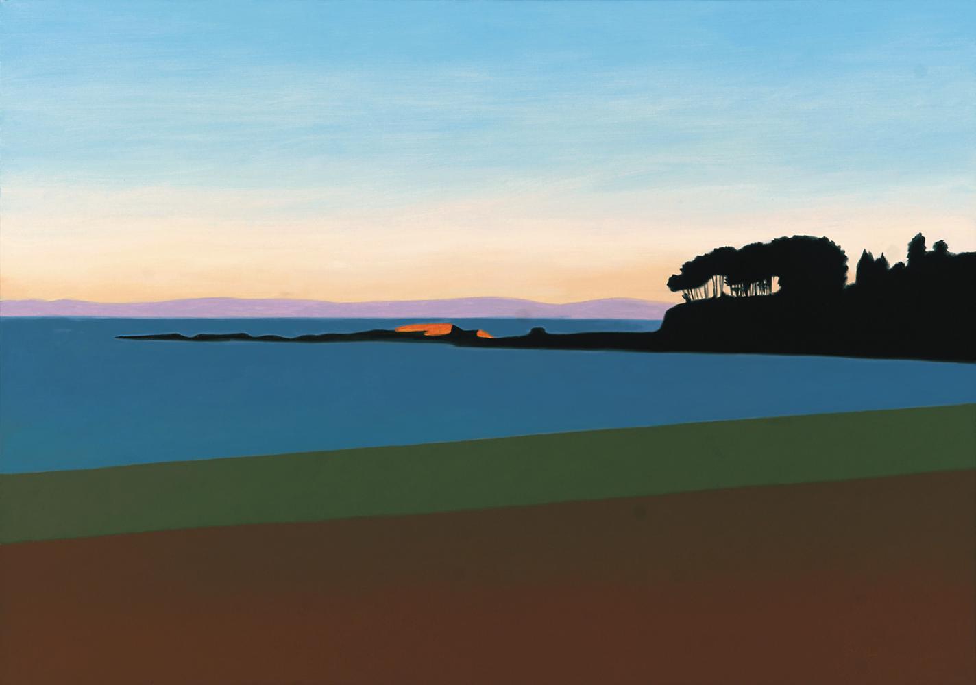 Playa de Santa Cristina, 65 x 92 cm, óleo lienzo, 2003.
