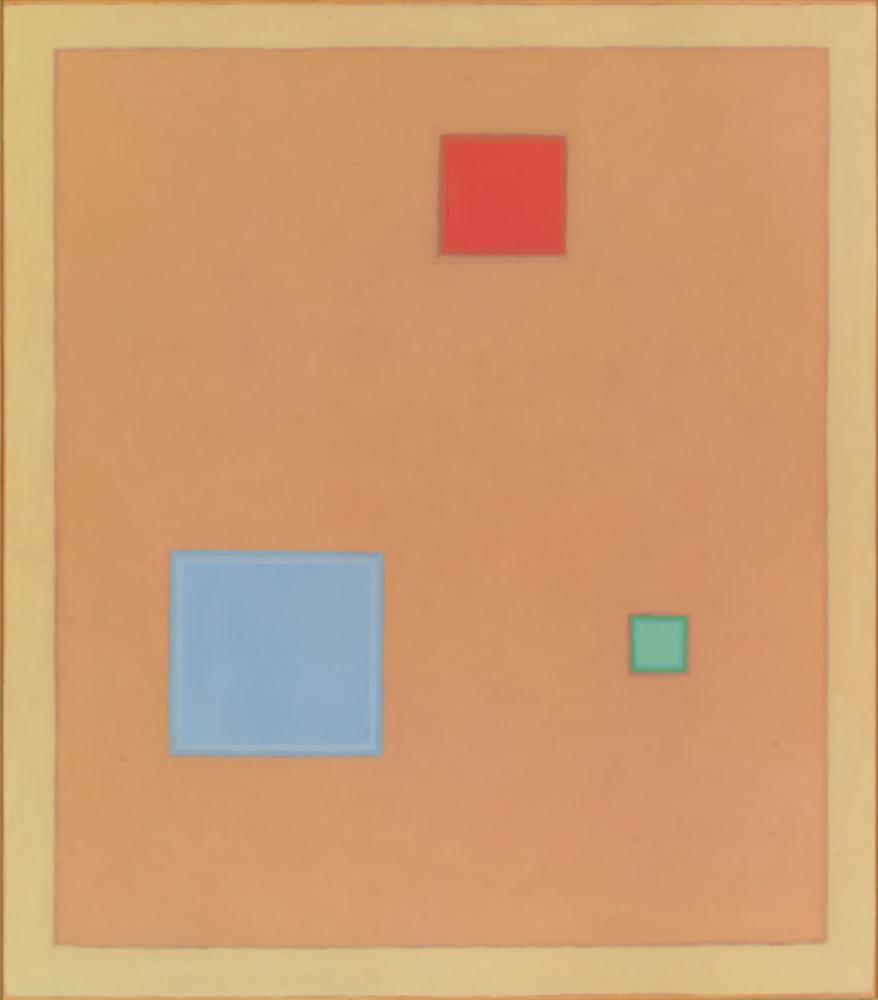 Recuerdo a Hans Hofmann, 92 x 83 cm, óleo madera, 2009.