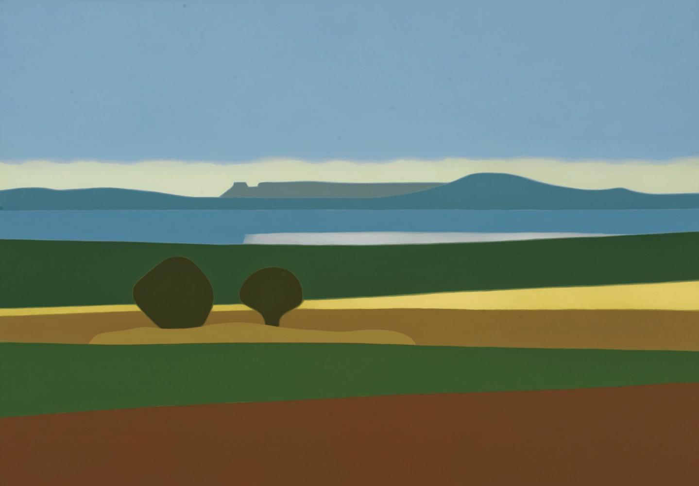 Embalse del Ebro, 81 x 116 cm, óleo lienzo, 2011.