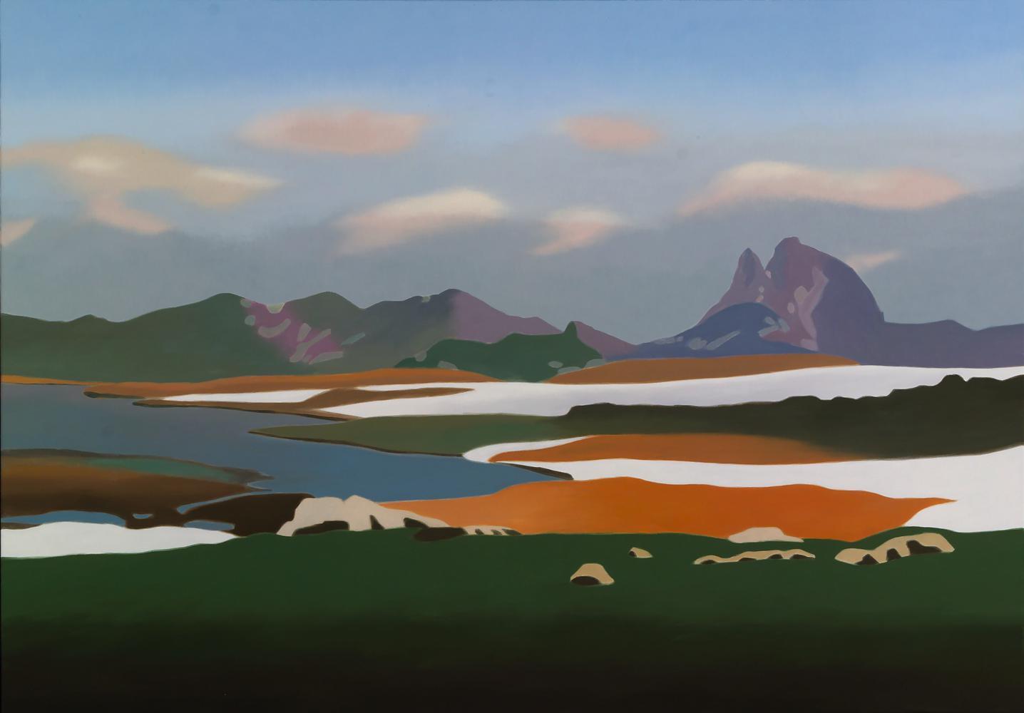 Ibón de Anayet, 81 x 116 cm, óleo lienzo, 2013.