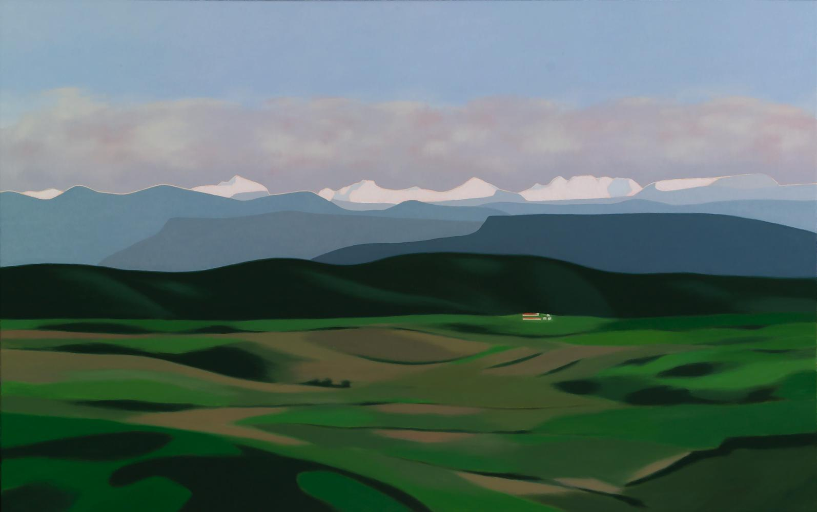 Desde Irulegui (Pirineo navarro), 73 x 116 cm, óleo lienzo, 2013.