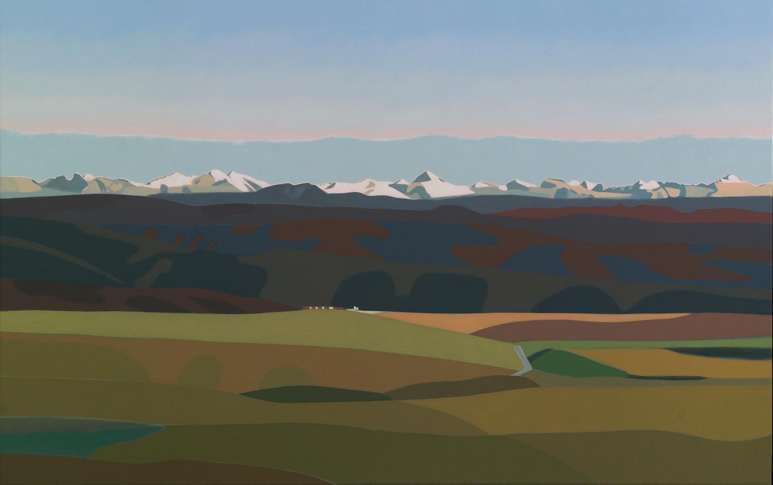 Desde Irulegui (Pirineo aragonés), 73 x 116 cm, óleo lienzo, 2013.