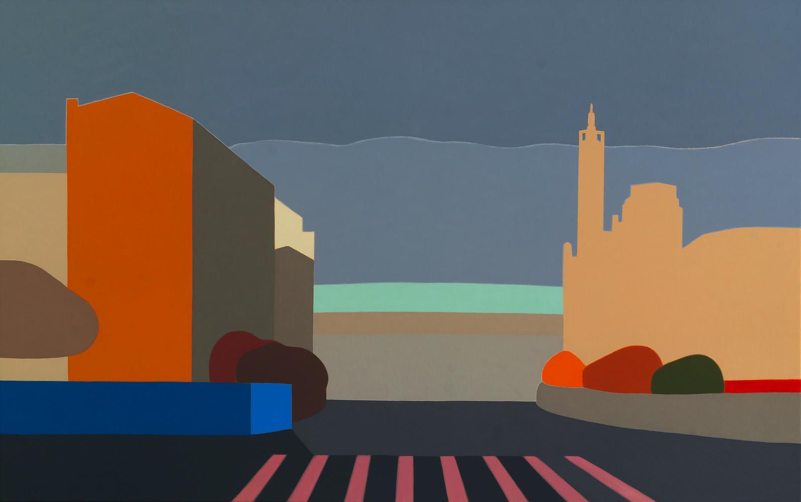 Calle Olite, 73 x 116 cm, óleo lienzo, 2012.