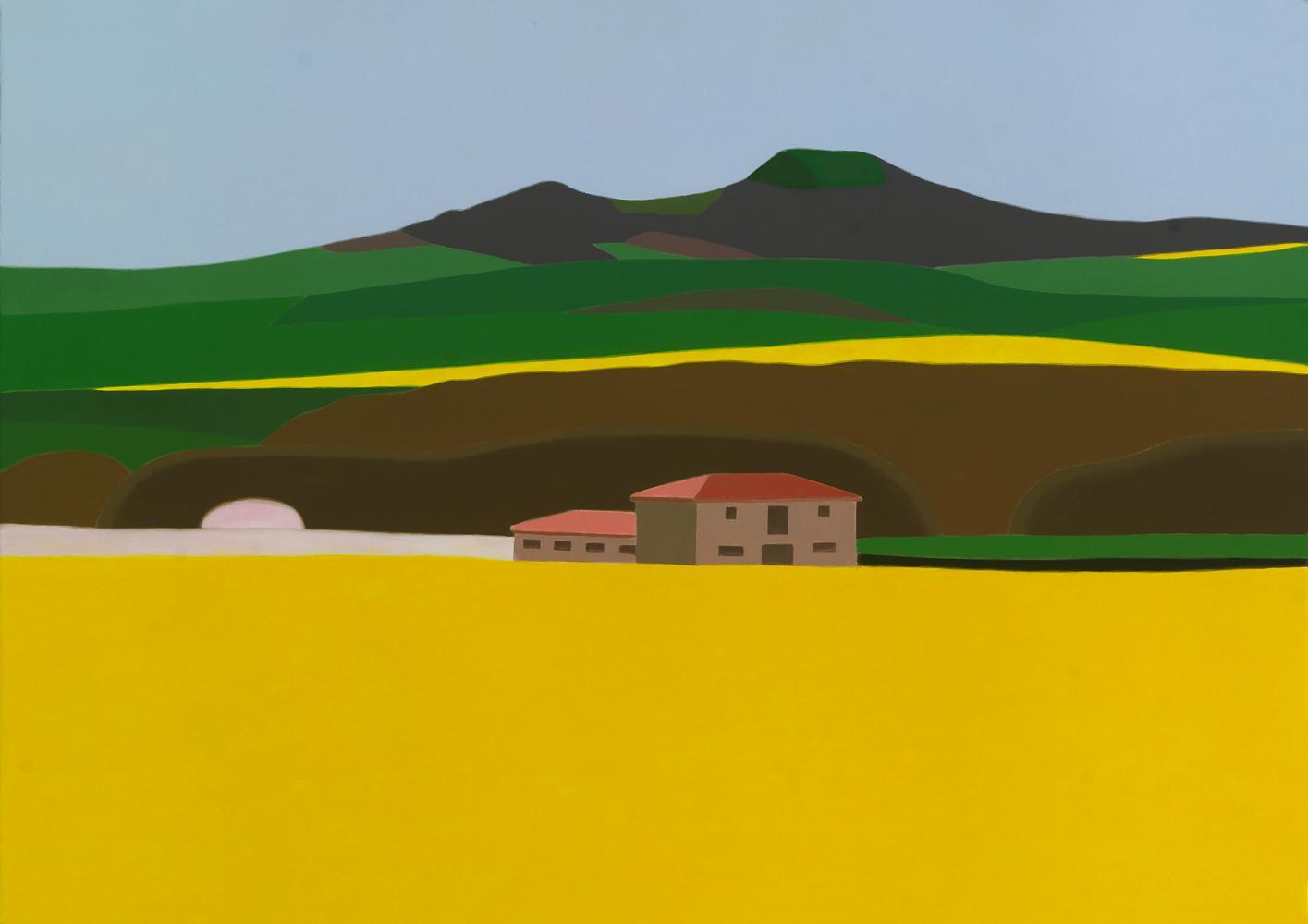 Colza en Echauri, 65x 92 cm, óleo lienzo, 2013.