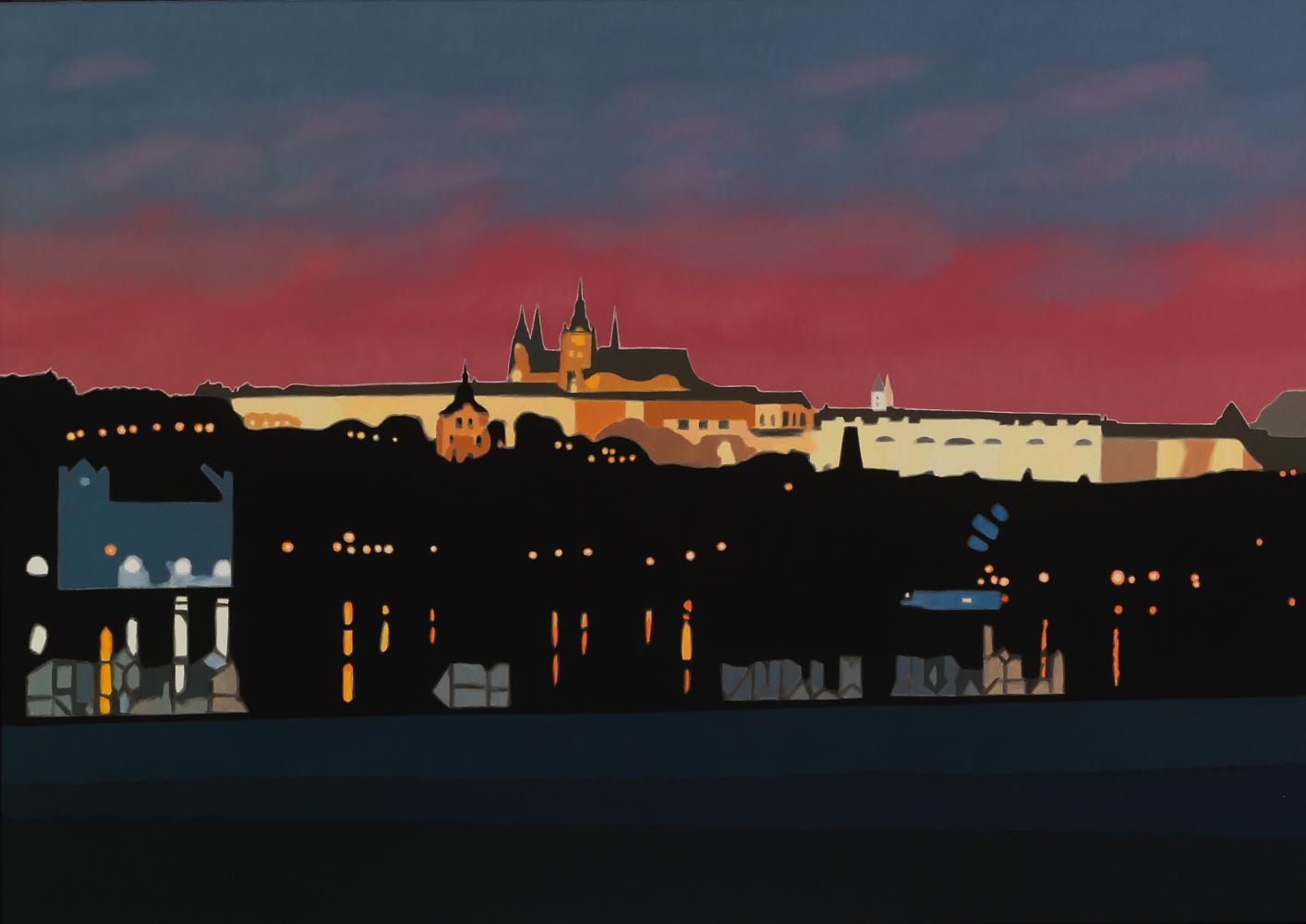 Praga, 65 x 92 cm, óleo lienzo, 2013.
