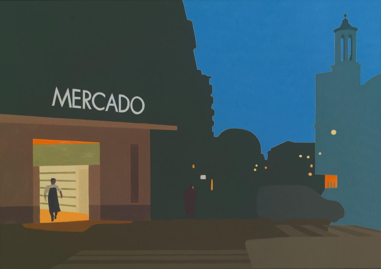 Mercado, 65 x 92 cm, óleo lienzo, 2013.