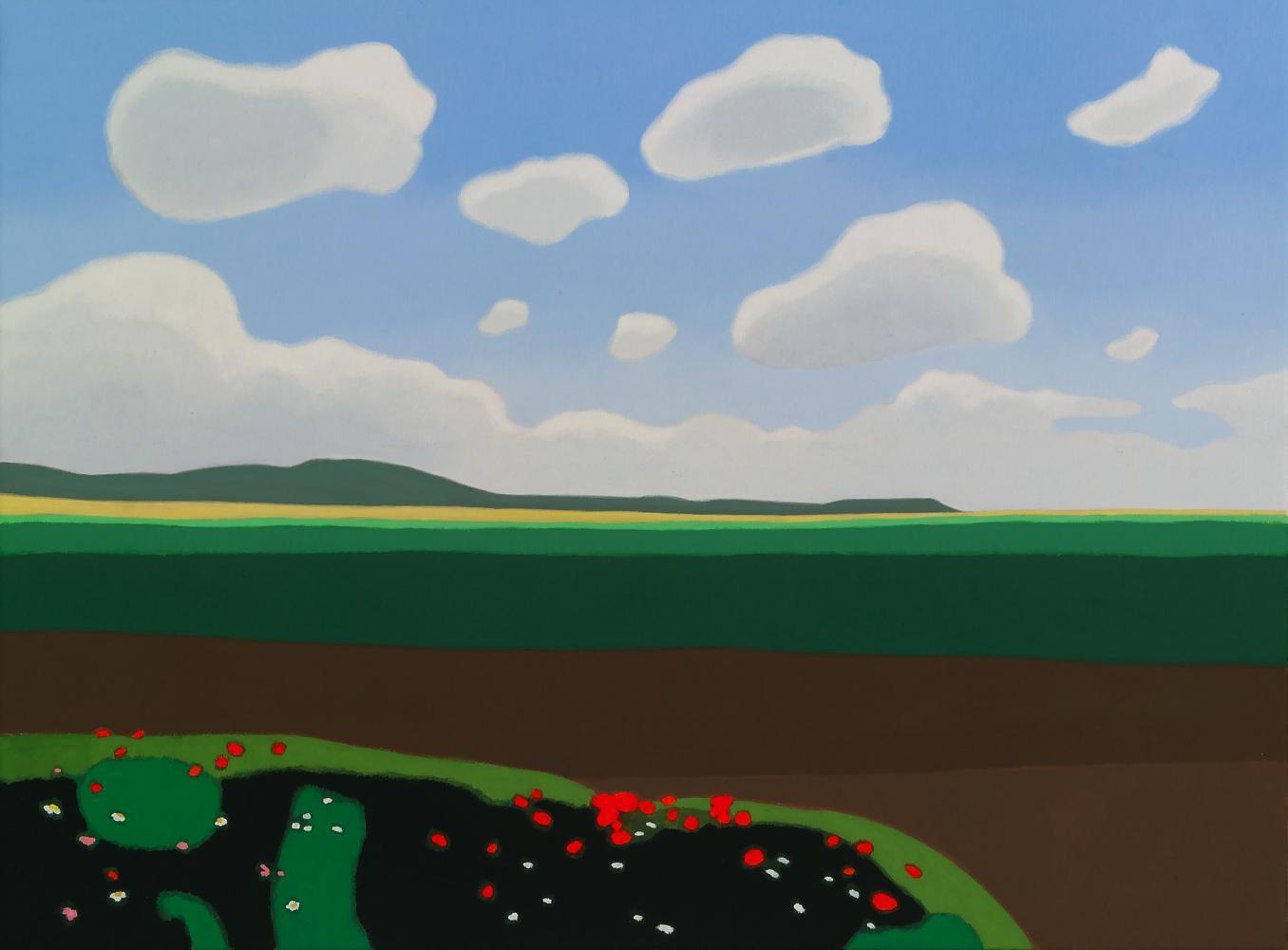 Primavera en Traibuenas, 54 x 73 cm, óleo lienzo, 2013.