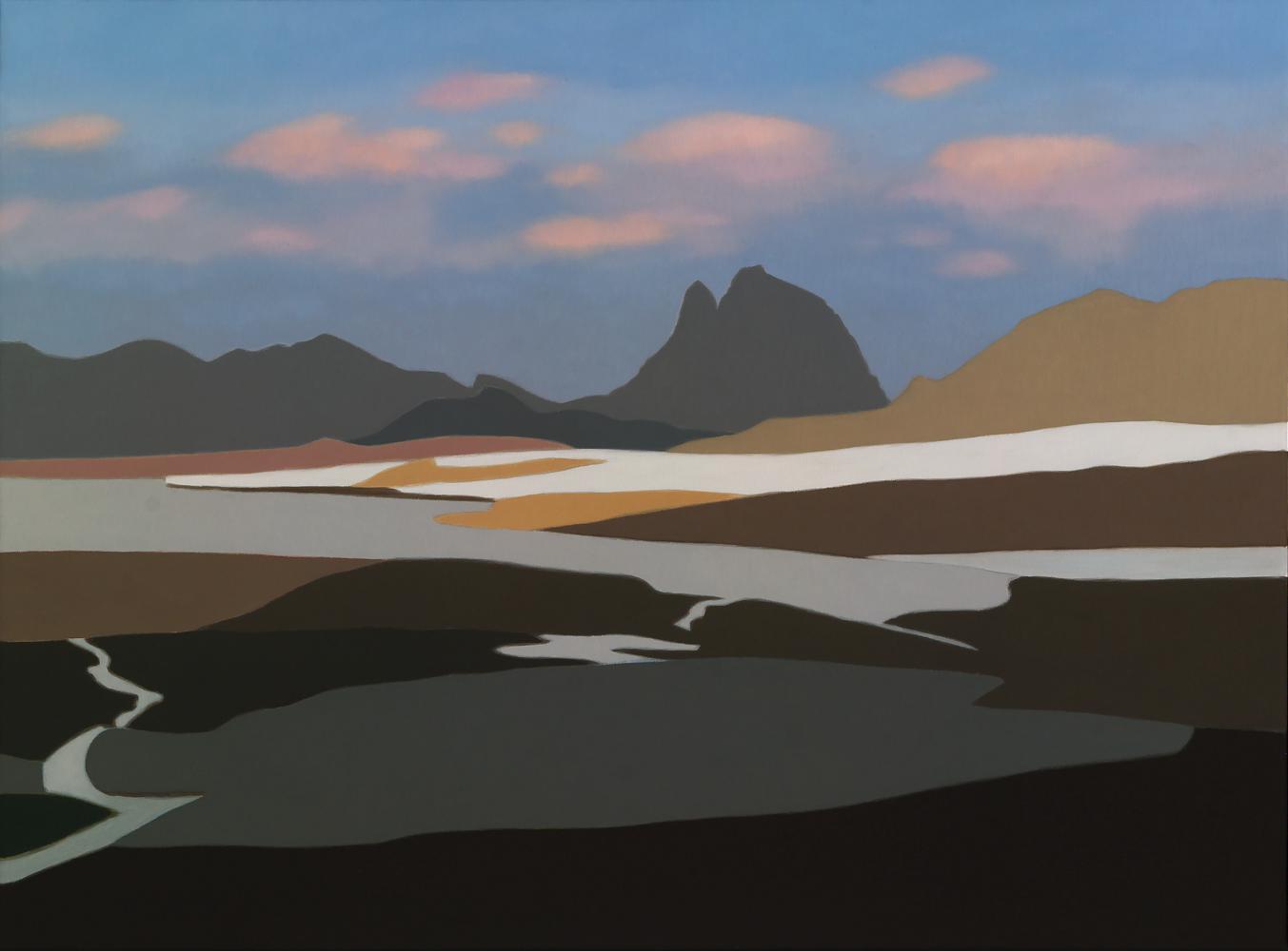 Ibón de Anayet, 54 x 73 cm, óleo lienzo, 2013.