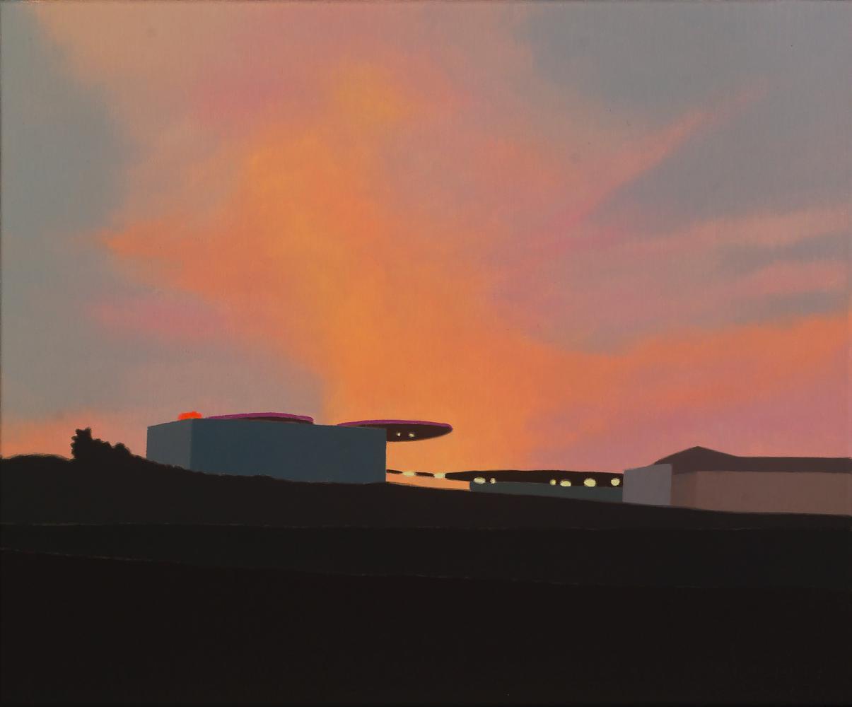 Gasolinera, 38 x 46 cm, óleo lienzo, 2013.