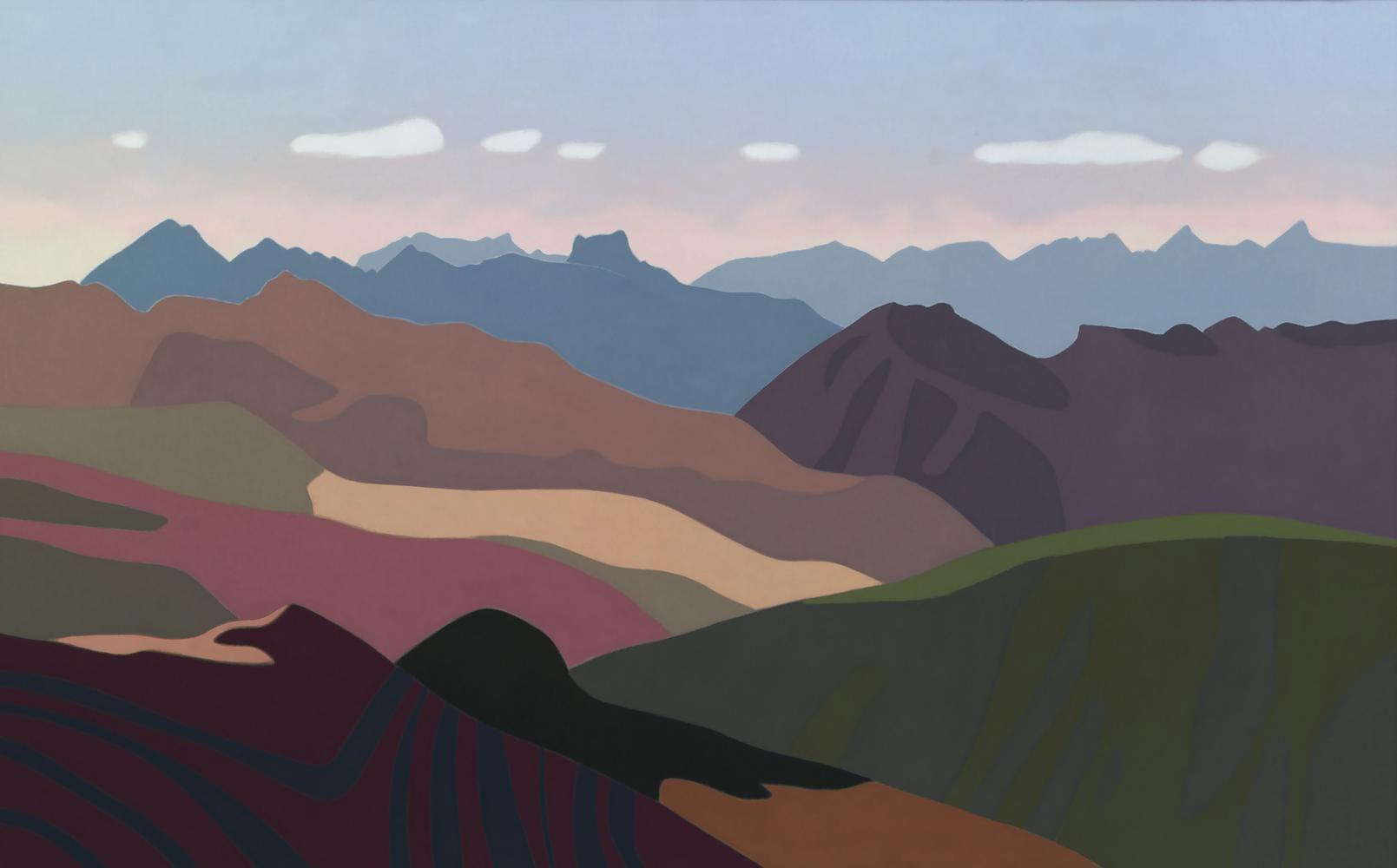 Pirineos, 81 x 130 cm, óleo lienzo, 2012.