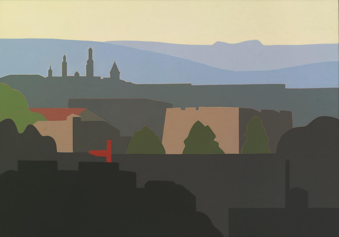 Torres de Pamplona, 81 x 116 cm, óleo lienzo, 2012.