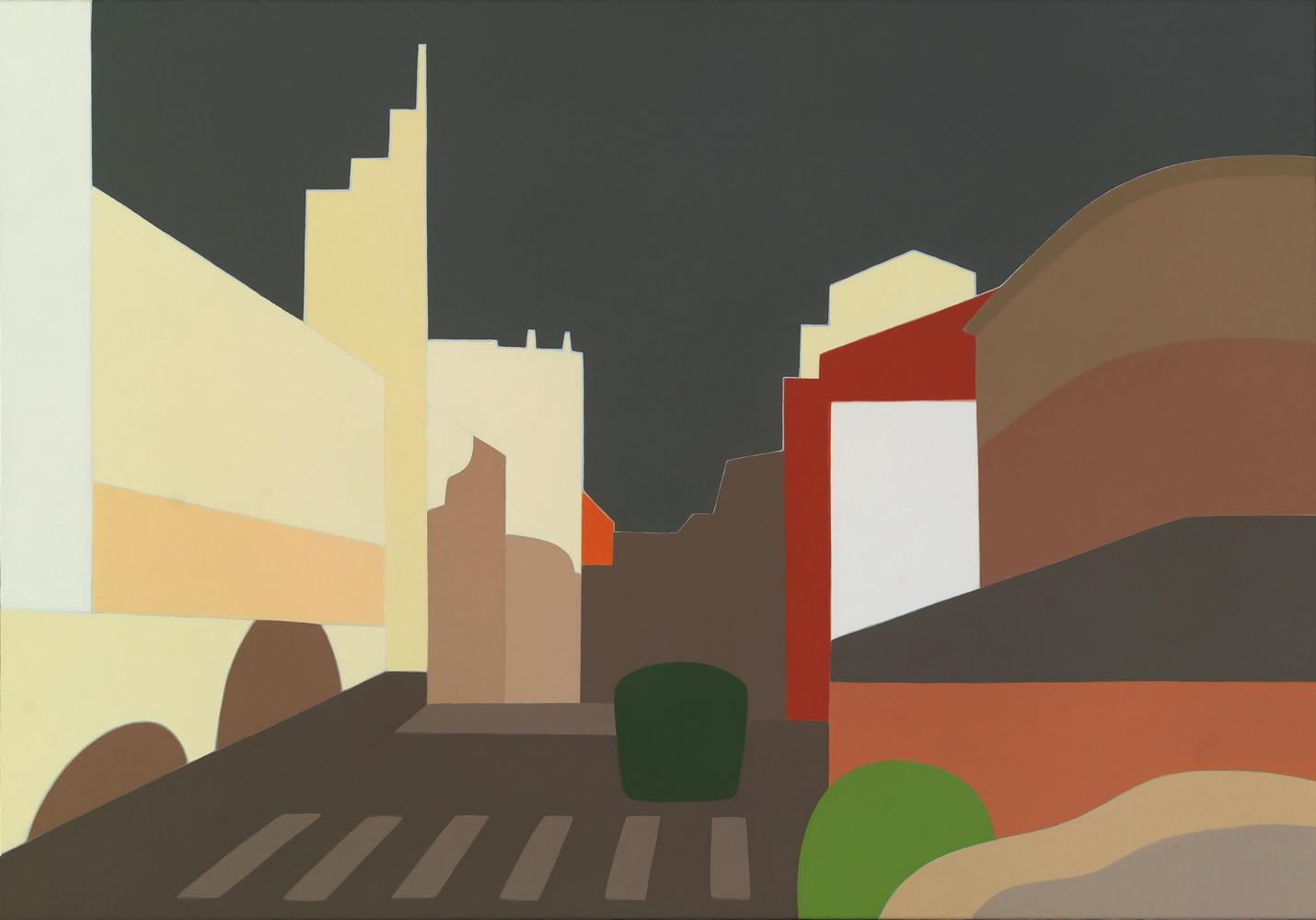 Calle Aralar, 81 x 116 cm, óleo lienzo, 2012.