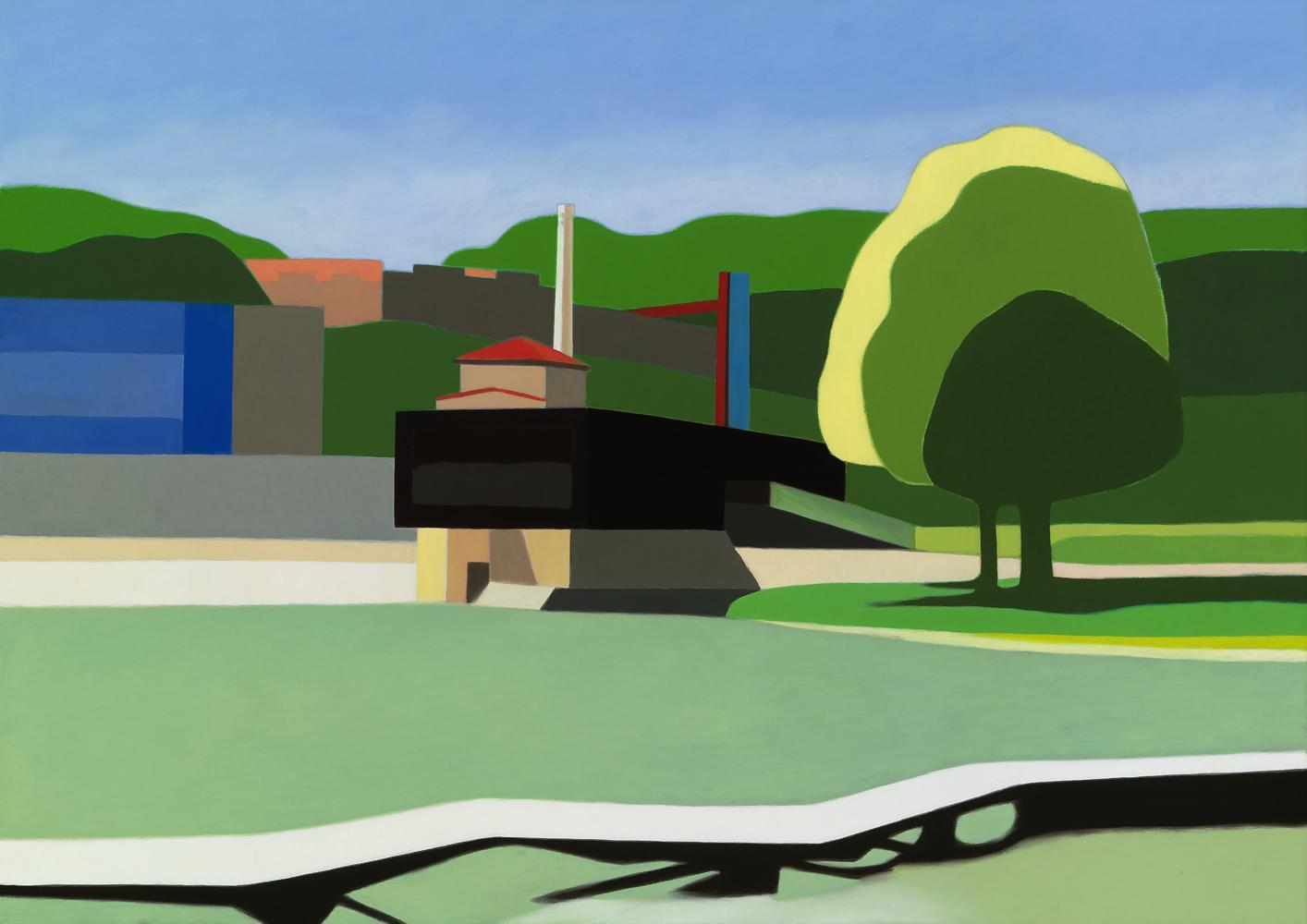 Pasarelas, 65 x 92 cm, óleo lienzo, 2012.