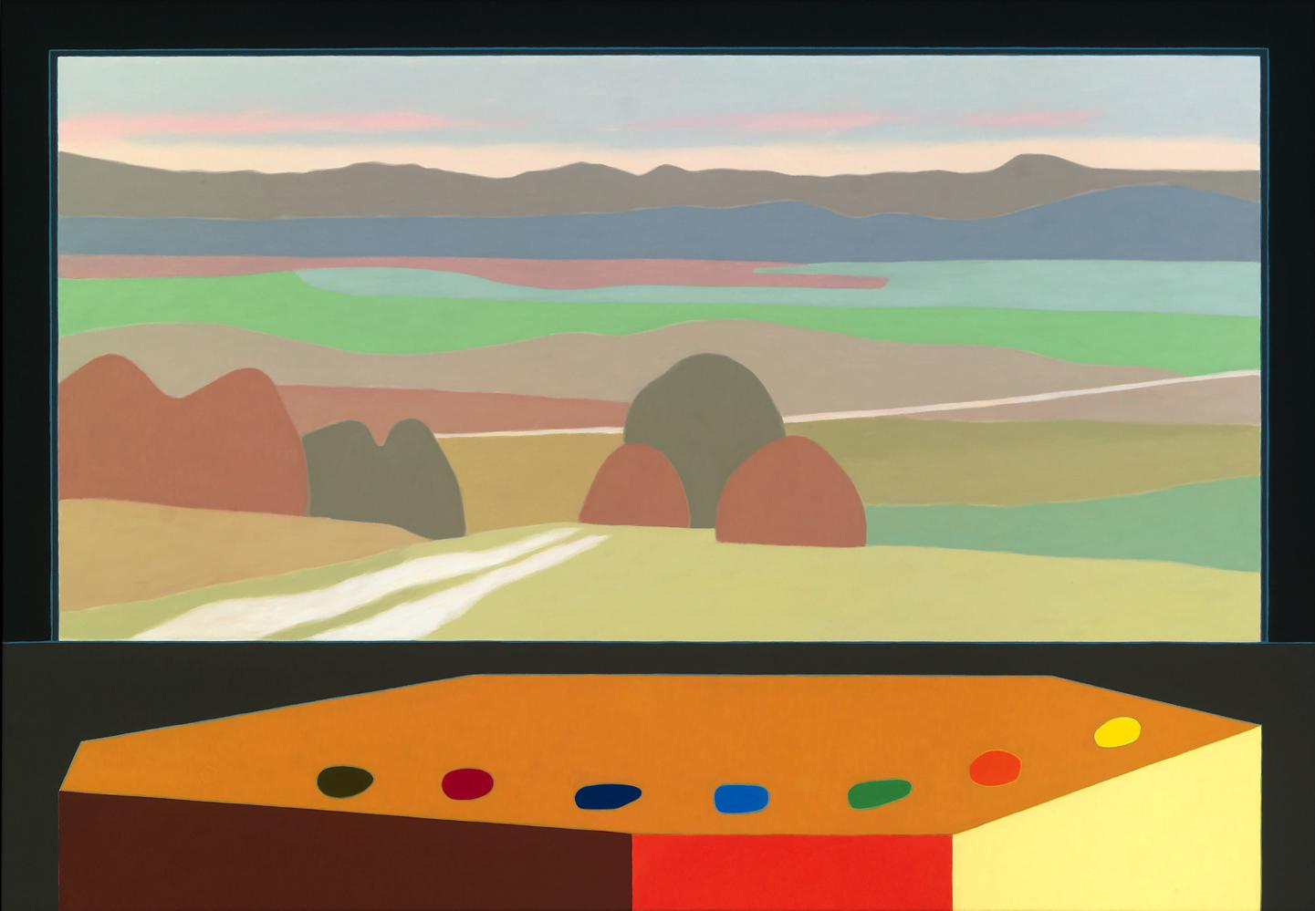 Siete piedras, 81 x 116 cm, óleo lienzo, 2015.
