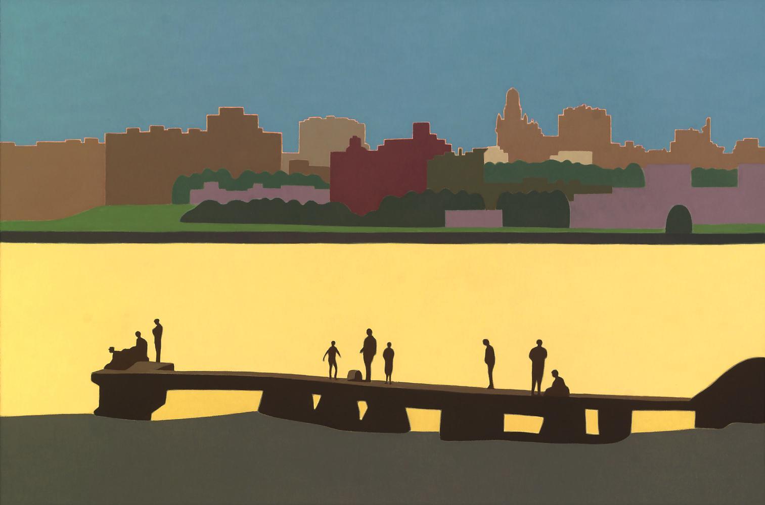 Montevideo, 54 x 81 cm, óleo lienzo, 2015.