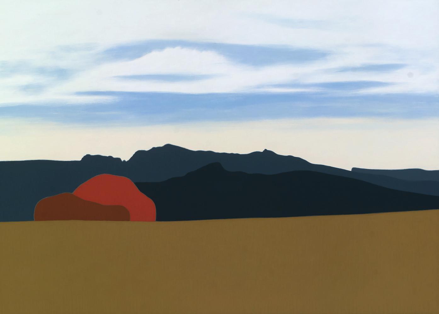 Subiendo a Monjardín, 52 x 74 cm, óleo sobre madera, 2015.
