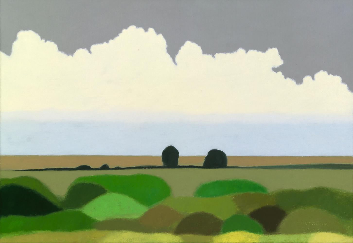 Campos de Uruguay II, 38 x 55 cm, óleo lienzo, 2015.