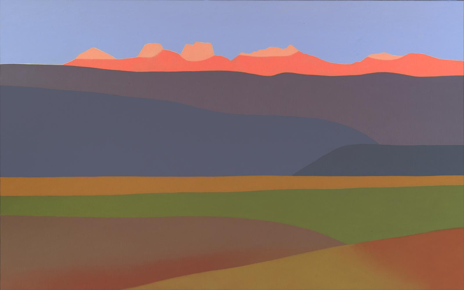 Pirineos, 81 x 130 cm, óleo lienzo, 2006.