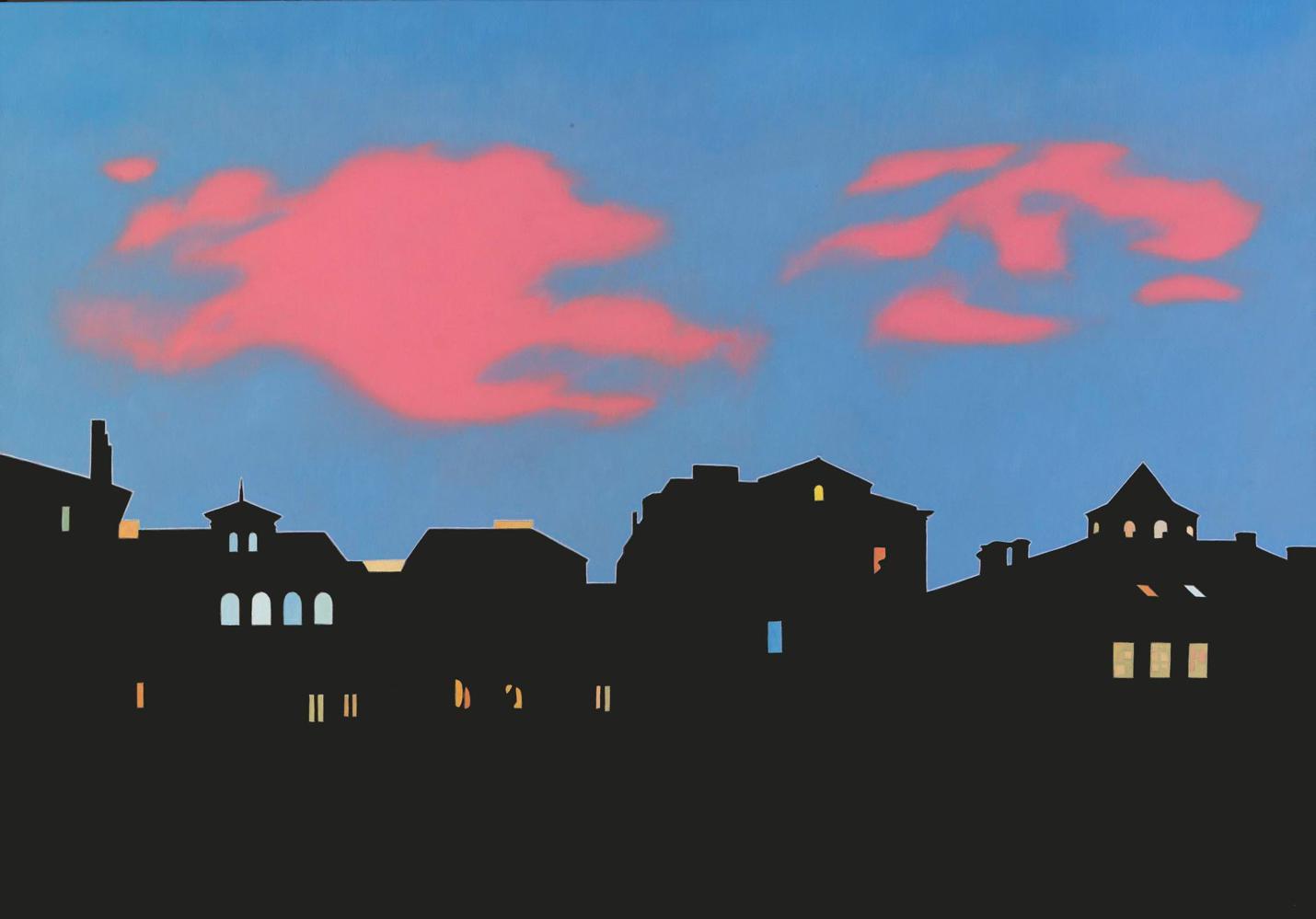Desde mi estudio IV,  81 x 116 cm óleo lienzo, 2006.