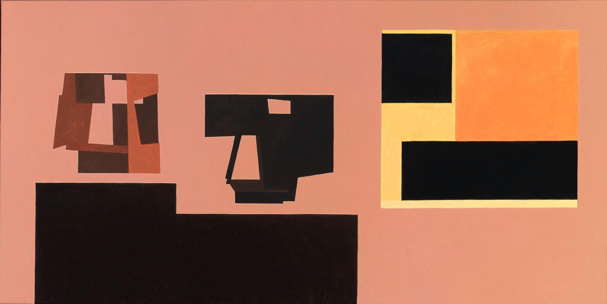 Oteiza, 50 x 100 cm, óleo lienzo, 2007.