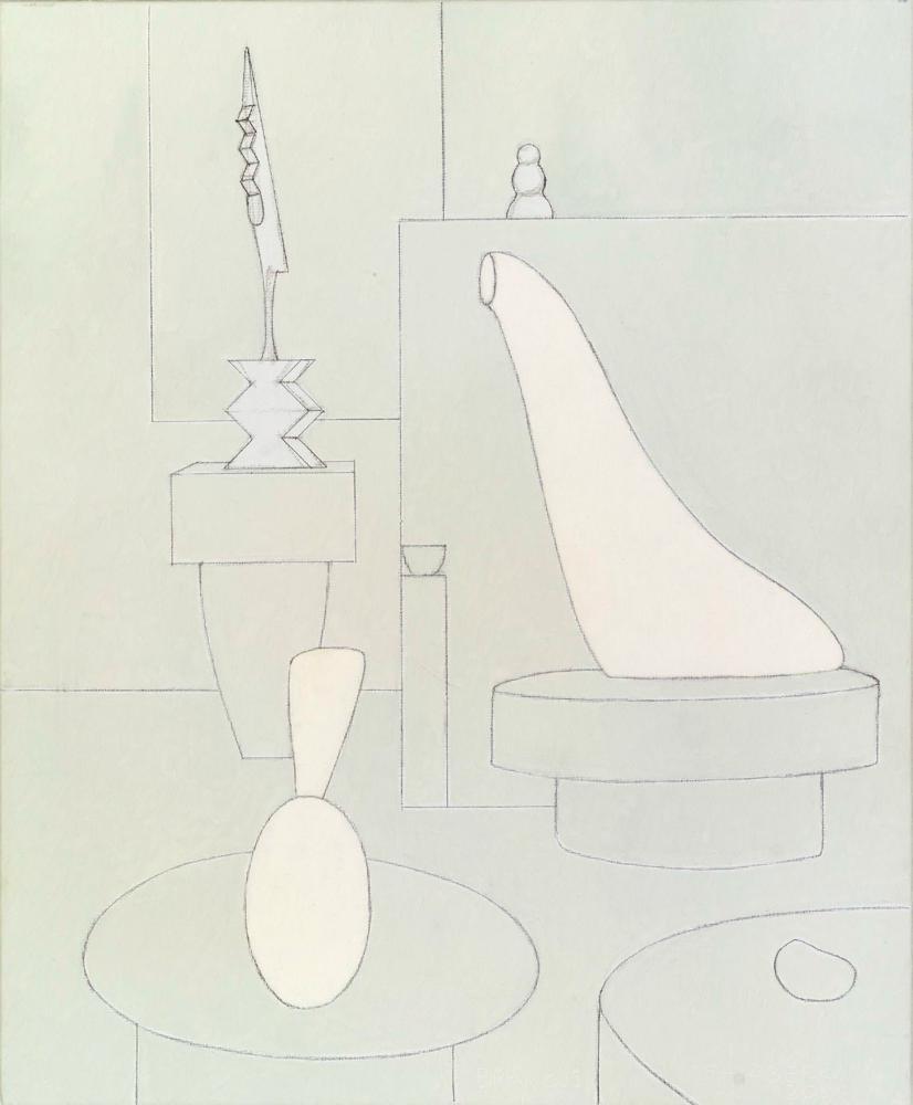 Brancusi, 61 x 50 cm, óleo lienzo, 2001.